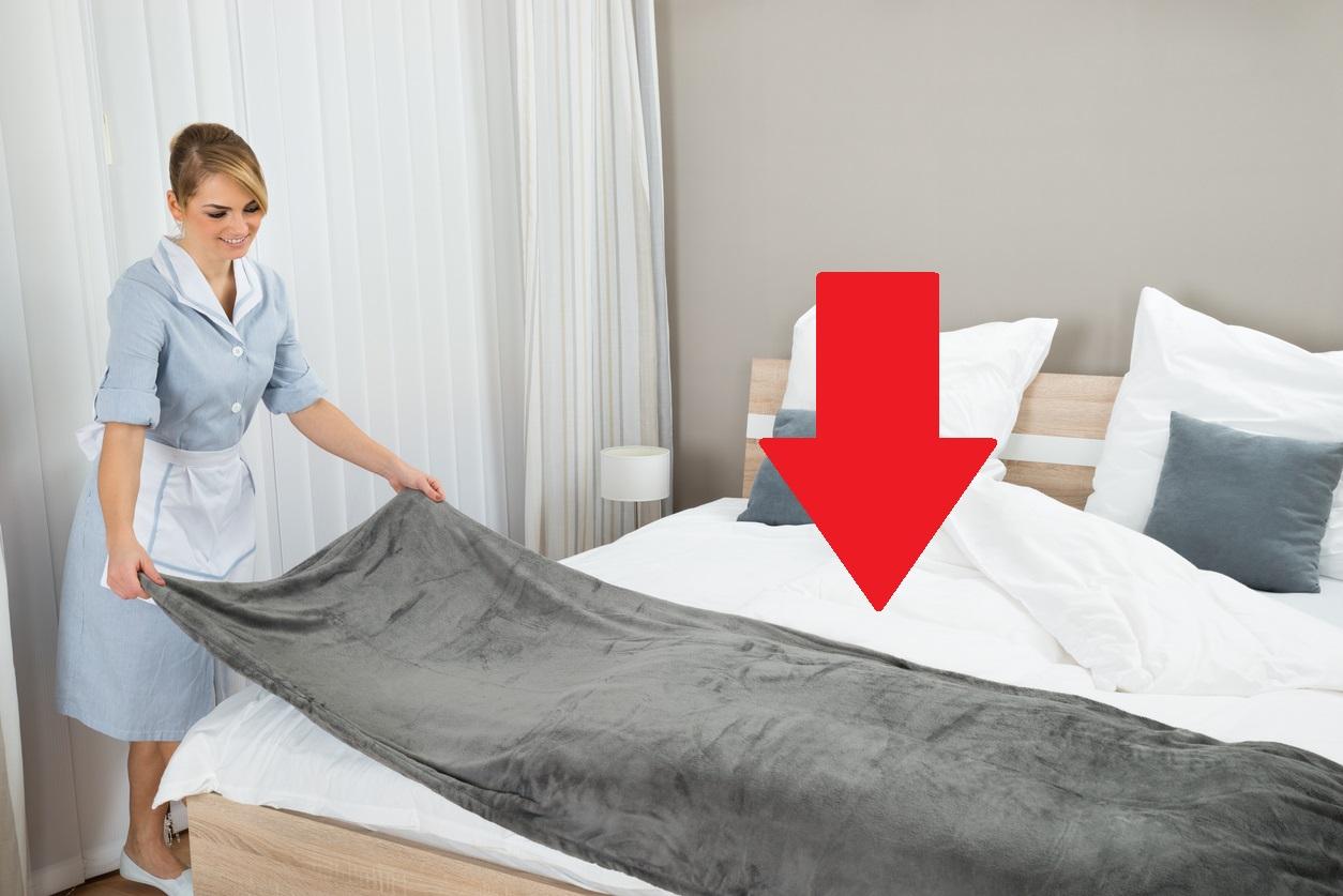 Voici comment savoir si les draps de votre lit d h tel - Comment mettre le tour de lit ...